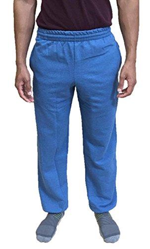 Fruit of the Loom Mens Elastic Bottom Sweatpant X-Large Blue