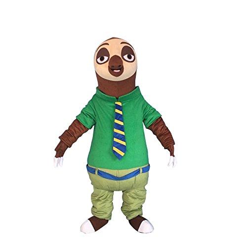 Sinoocean Flash Sloth of Zootopia Zootropolis Adult Mascot Costume Cosplay Outfit ()