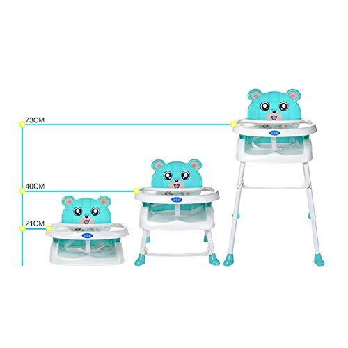 YIYIBY Kinder hochstuhl Baby 4 in1 Kinderhochstuhl Baby Essstuhl Sitzerh/öhung Treppenhochstuhl Klappbar mit Tablett H/öhenverstellbar Blue