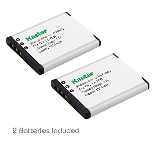 (Kastar 3.7V 1350mAh Li-Ion Replacement Digital Camera Battery For OLYMPUS FE-4020, FE-4040, X-940, Compatible Part Numbers: LI-70B (2 Pack))
