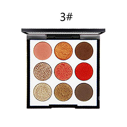 - 5135 9 Colors Eye Shadow Palette Long Lasting Matte Eyeshadow Palette Shining Shimmer Silky Pigments Eye Beauty Makeup