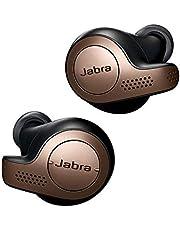 Jabra Elite 65T True Wireless Bluetooth In-Ear Hoofdtelefoon, Muziek en Telefoneren, met Oplaadcase, Koper Zwart