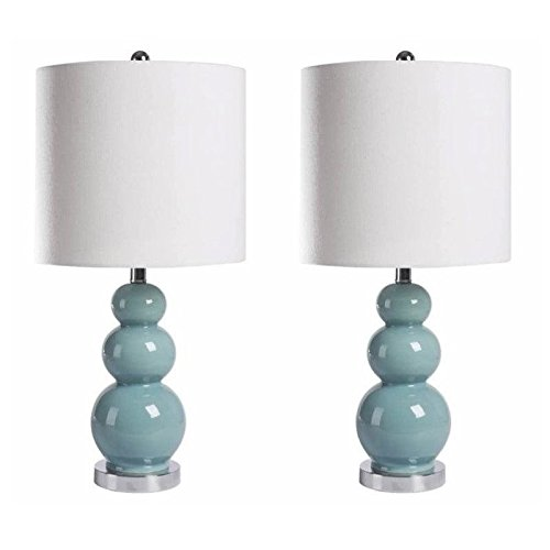 Abbyson Living Table Lamp in French Blue (Set of 2) by Abbyson Living