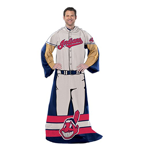 Cleveland Indians Uniforms (The Northwest Co Official MLB 'Uniform' Adult Comfy Throw by mpany)