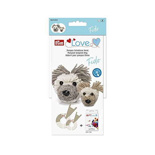 Prym Love Pompom Template Dog Fido - White 5 x 5 x 3 cm by Prym Love