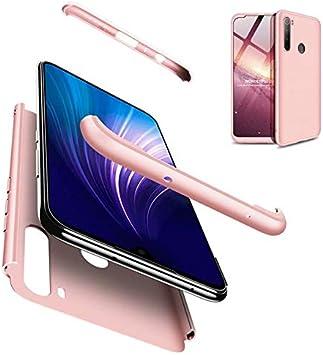 AILZH Housse Compatible pour Coque Xiaomi Redmi Note 8 Pro Coque Rigide Hard Shell Housse Protection Totale Antichoc Pare-Chocs Bumper Anti-Rayures Cover Case Matte Bleu Noir