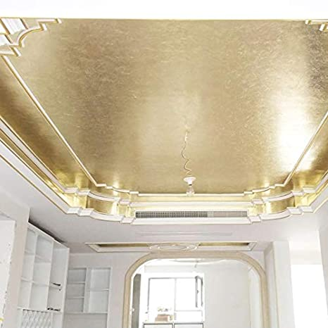 Wall Furniture Decoration Frame KINNO Antique Silver Foil Multipurpose for Home 100 Sheets 5.1 by 5.3 Inches Imitation Gold Leaf Sheets Ceiling