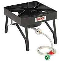 BARBOUR INTERNATIONAL SQ84 / Classic SQ84 Stove 1 x Burner - Steel, Brass Valve, Stainless Hose