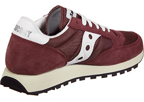 Saucony Jazz Original Vintage, Zapatillas de Gimnasia Para Mujer Rosso (Burgundy/White 27)