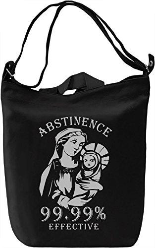Abstinence Borsa Giornaliera Canvas Canvas Day Bag  100% Premium Cotton Canvas  DTG Printing 