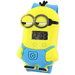 New 3D Eye Despicable Me Minion Cartoon Clap Watch Kid Quartz Wrist Watches