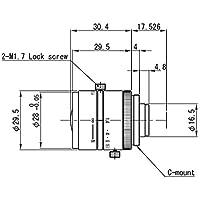 VS Technology SV-03514V 1/2 3.5mm F1.4 Manual Iris C-Mount Lens, Megapixel Type