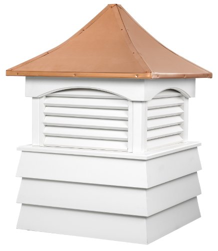 Good Directions Sherwood Vinyl Shiplap Cupola with Copper Roof 54'' x 81'' by Good Directions