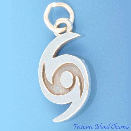 Hurricane Symbol Weather Storm 925 Solid Sterling Silver