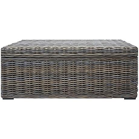 Rectangular Wicker Basket Kubu Chest With Storage
