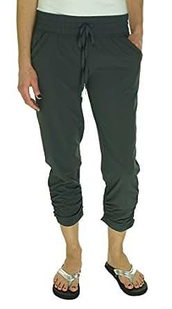 Ideology Women's Cropped Drawstring Pants (XS, Charcoal)
