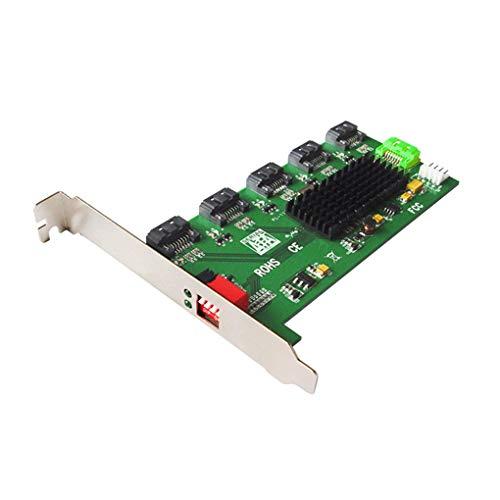 Topker 5-Port SATA Converter SATA II Port Multiplier Adapter Expansion Card Support RAID 0/1/3/5/10 ()