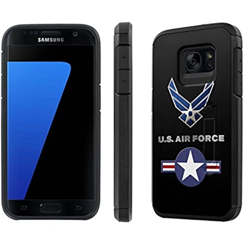 Galaxy [S7] [5.1 Screen] Defender Hybrid Case [SlickCandy] [Black/Black] Dual Layer Protection [Kick Stand] [Shock Proof] Phone Case - [US Air Force] for Sales