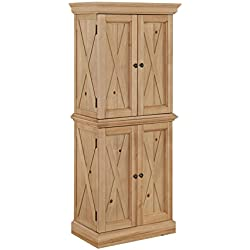 Home Styles 5524-69 Country Lodge Pantry, Honey Pine Finish