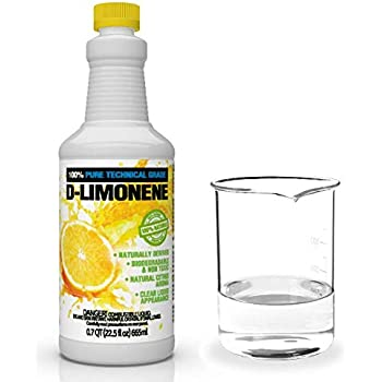 100% Pure D-Limonene Citrus Orange Oil Extract Best Natural Solvent Extracted from Orange Peels (Citrus Cleaner Degreaser & Deodorizer) (22.5 oz)