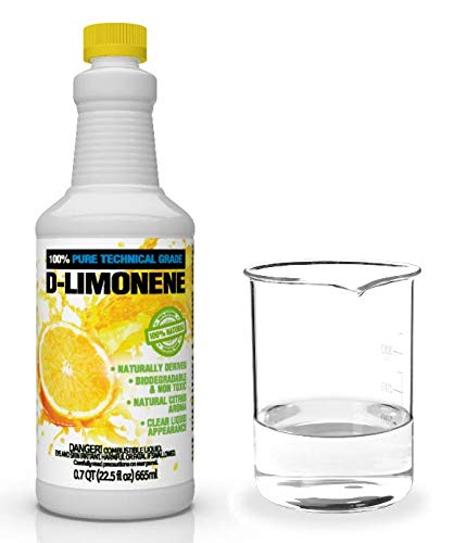 100% Pure D-Limonene Citrus Orange Oil Extract Best Natural Solvent Extracted from Orange Peels (Citrus Cleaner Degreaser & Deodorizer) (22.5 oz)
