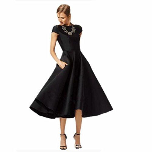- Dexinyuan Women's High Collar Satin Swing Short Dresses for Party