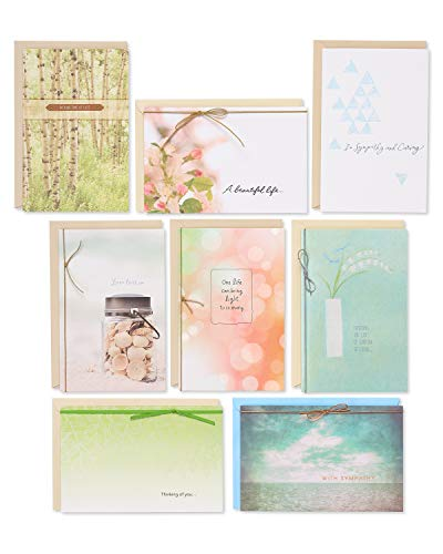 American Greetings Premium Sympathy Greeting Card Collection, 8-Count (Sympathy Card Assortment)