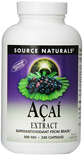 Source Naturals Acai Extract, Superantioxidant from Brazil, 240 Capsules