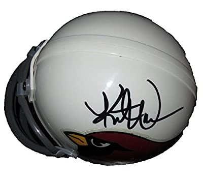 Kurt Warner Autographed Arizona Cardinals Mini Helmet W/PROOF, Picture of Kurt Signing For Us, Arizona Cardinals, St. Louis Rams, Super Bowl Champion, MVP