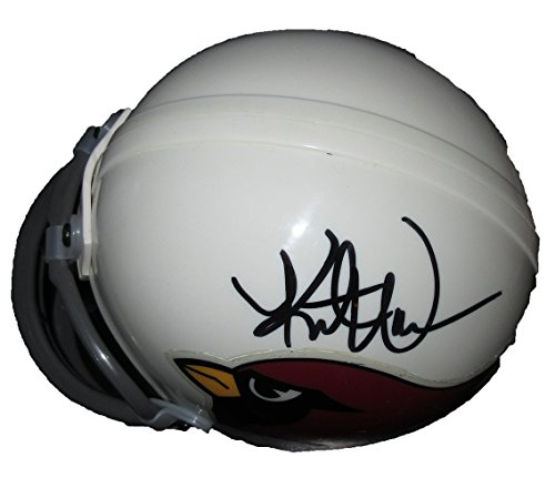 Kurt Warner Autographed Arizona Cardinals Mini Helmet W/PROOF, Picture of Kurt Signing For Us, Arizona Cardinals, St. Louis Rams, Super Bowl Champion, (Louis Rams Autographed Mini Helmet)