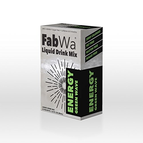 FabWa Liquid Energy Drink Mix - Green Wave - Single Box