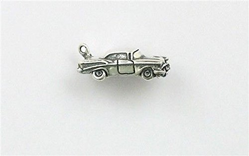 Sterling Silver 3-D 57 Chevy Charm Jewelry Making Supply, Pendant, Charms, Bracelet, DIY Crafting by Wholesale (Chevy Charm)