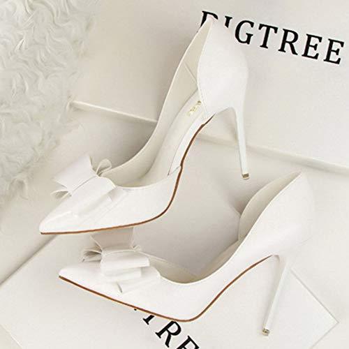 Hauts Robe femmes Soirée à Blanc Robes Slip talons Shoes Soirée Chaussures Robe Classique Bout Soirée On Mode Yudesun De pour Club Mariée Stiletto pointu Bal Talons q6adxUwt4d