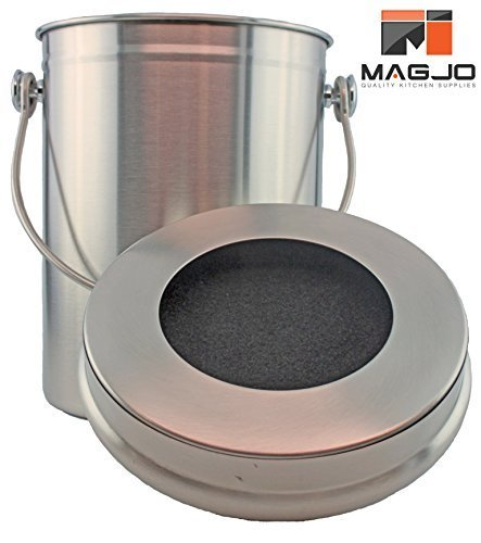 Stainless Steel 1 Gallon Compost Pail with Filter (Stainless)