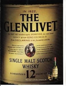 Whiskey Advertisement - MAGAZINE ADVERTISEMENT For Glenlivet Scotch Whisky 12 Year Label Scene