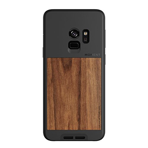 Galaxy S9 Case || Moment Photo Case in Walnut Wood - Thin, Protective, Wrist Strap Friendly case for Camera Lovers.