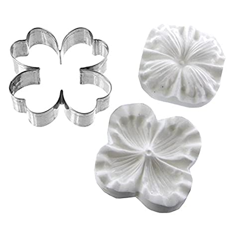 5402f45cce1d Amazon.com  Dogwood Flower Cutter and Silicone Veiner Set by Chef Alan  Tetreault  Kitchen   Dining