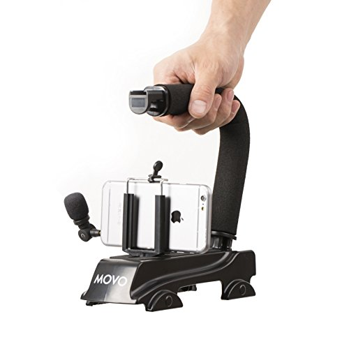 Movo Smartphone Video Kit w/Stabilizer Handle & Microphone f