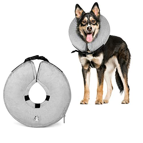 Dog Cone Collar Soft – Soft Pet Recovery E-Collar Cone Small Medium Large Dogs, Designed to Prevent Pets from Touching Stitches (Large)