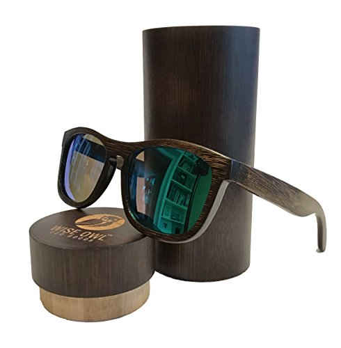 Unisex & 100% Bamboo Wood POLARIZED Sunglasses | Eco-Friendly & Sturdy - Friendly Eyewear Eco