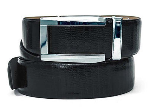 Nexbelt Reptile Series Blk Lizard Belt Chrome Prometheus Buckle Golf (Reptile Buckle Belt)