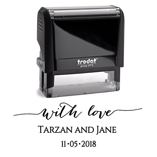 Black Ink, Personalized Custom Self Inking Save the Date Stamp, Newlywed Thank You Stamp, For Wedding Invitations or Thank You Cards
