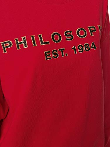 Algodon Mujer Rojo Sudadera 17035747a0128 Philosophy qxg4PBwx