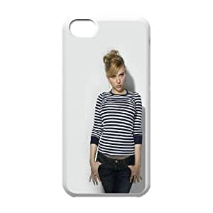 Durable Hard cover Customized TPU case Celebrities Scarlett Johansson In Casual Outfit iPhone 5c Cell Phone Case White