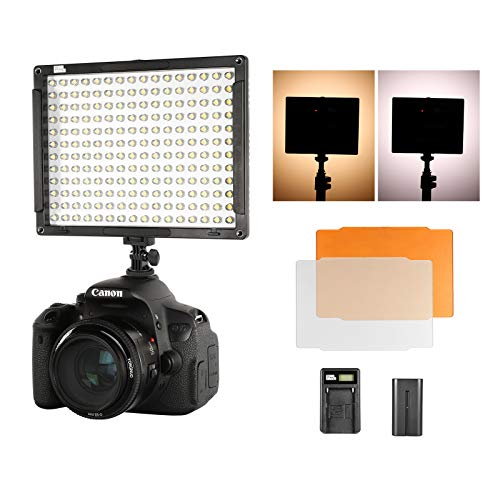 Pixel Camera Video Light, 192 LED 5600K Dimmable Ultra Brigh