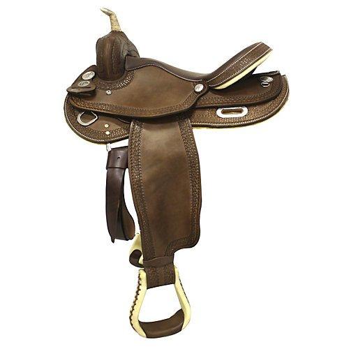 Circle P Leather Barrel Saddle 15.5in