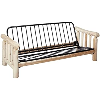 Amazon.com: Kodiak Cabin Lodge Log Futon Frame w/up North Premium 8 ...
