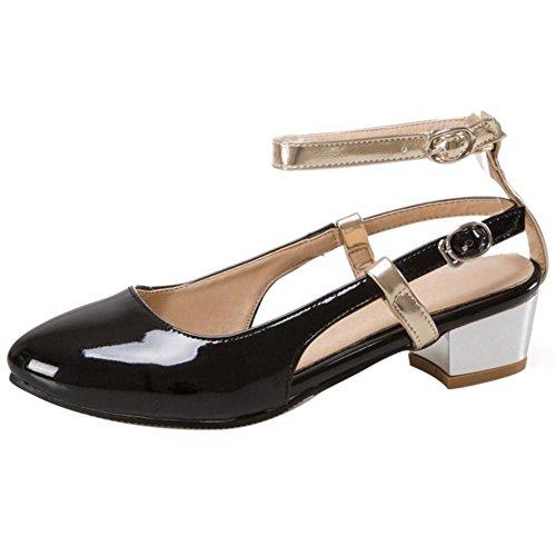 RizaBina Women Fashion Mid Heel Heel Heel Office Sandals Block Heel Closed Toe Summer Shoes Parent B072QRCLVK 3afb72
