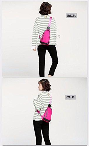 BMKWSG à Plein Sports rose Sac rouge Sling Dos Style Contemporain de air Femme épaule Gules de léger décontracté Poitrine Sac Homme Hanche de EYfqrY