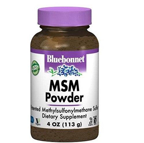 BlueBonnet MSM Powder, 4 Pound (Pack of 12)